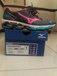 Tênis Mizuno Wave Creation 19 Feminino - Grafite e Pink