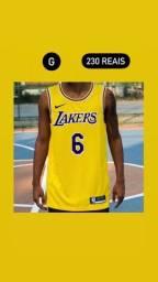Título do anúncio: Regata NBA Nike Icon Edition Lakers Amarela