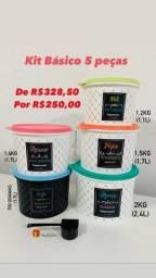 Kit Básico 5 Peças Mantimentos Bistrô Tupperware