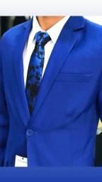 Terno azul - paletó azul Oxford Premium