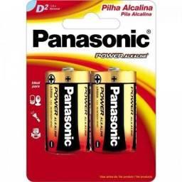 2 Pilha Alcalina Panasonic Grande D , Rádio, Brinquedos 1.5V,NOVA/ACEITO TROCAS