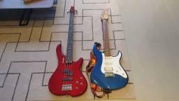 Título do anúncio: Conjunto de Caixa de Som + 2 Guitarras