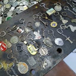 Chaveiros antigos metal