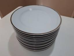 Jogo 12 Prato De Sobremesa Porcelana Schmidt 20cm Novo