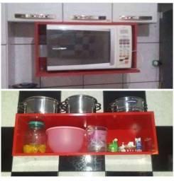 Título do anúncio: Vendo 2 suporte para microondas e utensílios