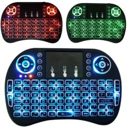 Mini Teclado Wireless Touch Pad com Led para Tv Smart (Atacado e Varejo)