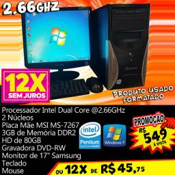 Dual Core 2.66GHz Computador Intel PC Home Office (12x R$ 45,75)