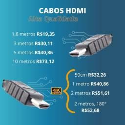 Cabo HDMI até 10 metros - Cabos Hdmi Full HD e 4K