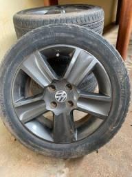 Rodas aro 15 com pneus meia vida