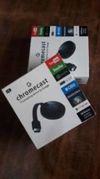 Título do anúncio: Chromecast (ANYCAST) Novo na caixa espelhar do seu celular para a tela da sua TV