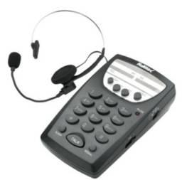 Telefone Telemarketing com Headset Sem Identificador de Chamadas Multitoc Preto