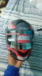 Capacete x11 vermelho