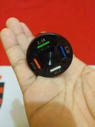 Título do anúncio: Carregador  Celular Veicular Turbo Quick Charge 3.0