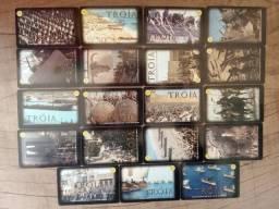 Título do anúncio: 19 Cartões Telefônicos - Série Completa - Tróia DVD
