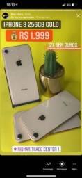Título do anúncio: iPhone 8 64Gb gold vitrine