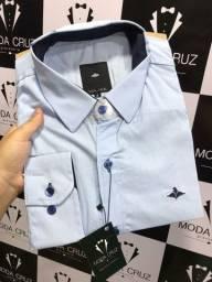 Camisa work 100% algodão - camisa social manga longa