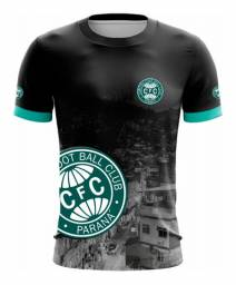 Camiseta Coritiba (Curitiba) Futebol Clube Verde e Preto Masculino