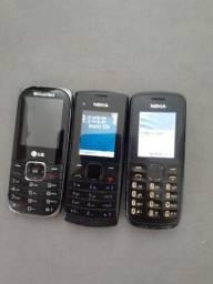 Cels antigo Nokia , Lg, modem net