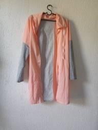 capa feminino alongado manga longa