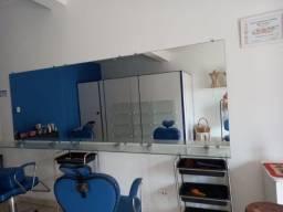 Título do anúncio: Bancada de vidro com espelho de 3 metros