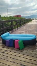 Sofa inflável camping/piscina/lazer