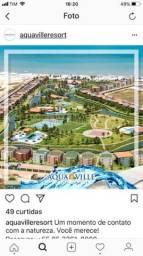 Apto temporada Aquaville 2 suites, próximo Beach Park no Porto das Dunas