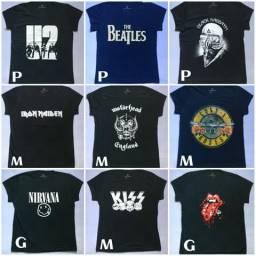 Camisas e Babylooks de bandas de rock !!!