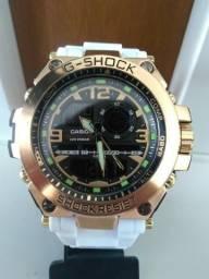 a686995e1d2 Relógio Pulseira Branca Gshock Masculino Aço