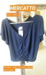 1 blusa marca Mercatto tam G azul marinho original