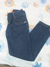 Calça comprida jens tamanho 40 marca chik look