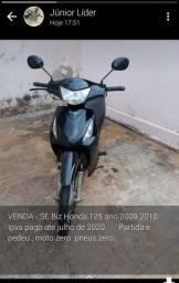 Vendo moto Biz 125 - 2010