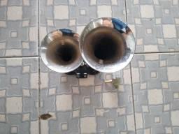 Buzina dupla Cromado a ar 12V