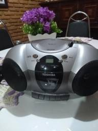 Rádio toca CD Toshiba