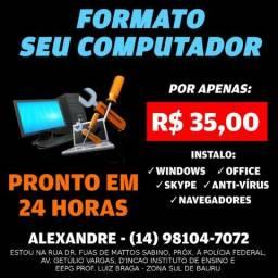 Formatação - Formato seu Computador ou Notebook - Pronto em 24 Horas