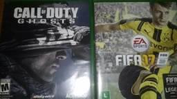 Vendo call of duty ghosts e Fifa 17 Xbox one