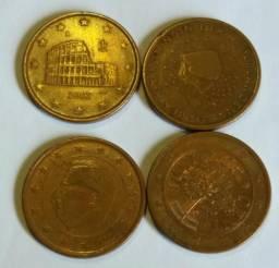 Moedas de euro cents