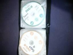 Porta CD com 27 filmes e jogos