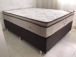 ;; Promoçao Cama Box + Colchao Ortobom Pro-Vida casal 138x188 Linha ouro