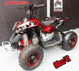 Mini Quadriciclo Motor 90cc/4t BRINDE CAPACETE MOTOCROSS E ÓCULOS INFANTIL comprar usado  Curitiba