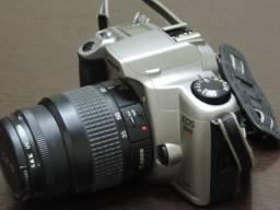 Canon Câmera Analógica e Lente 35-80 mm Raridade Impecável
