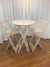 Conjunto Bistro - mesa e cadeiras - sem pintura