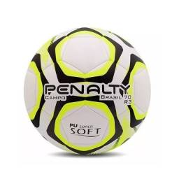 Bola Futebol Campo Brasil 70 R3 Ix Penalty + 1 Bag para Equipamentos + Bomba
