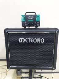 Amplificador valvulado bantram joyo caixa passiva meteoro