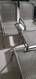 Jogo de Cadeira de Fribra com Centro de Fibra