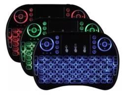 Mini Teclado Keyboard Sem Fio Wireless Iluminado Smart Tvbox