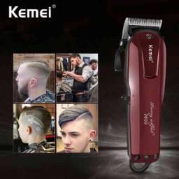 Máquina de cortar cabelo kemei Turbo sem fio!!