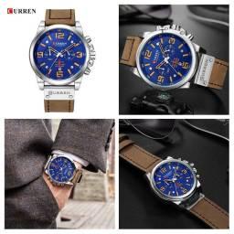 Relógio CURREN Casual - Azul / Marrom