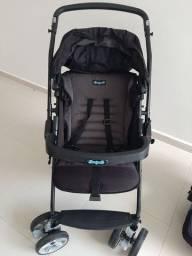 Carrinho de Bebê Burigotto AT6k + Bebê conforto Touring Evolution - Super conservado