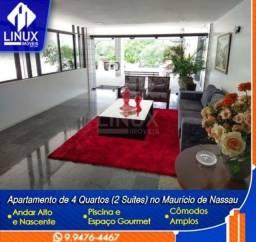 Apartamento de 150 m² com 04 quartos (02 suítes) em Caruaru/PE.
