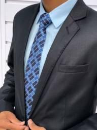 TERNO TERNO SLIM BRILHOSO + camisa + gravata kit diamante